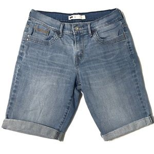 Levi's Rolled Light Distressed Jean Shorts